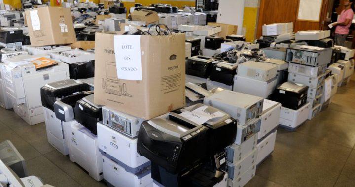 Mais de 500 equipamentos eletroeletrônicos vão a leilão
